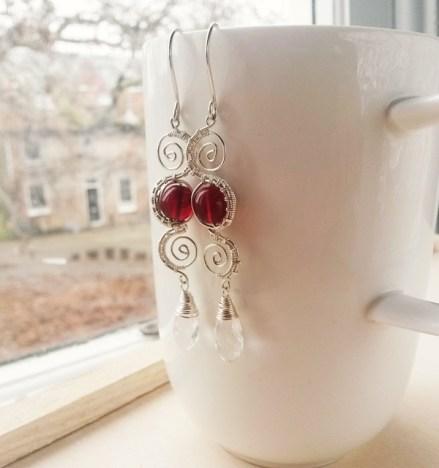 zilveren filigrein oorbellen door Laurelinde Jewels