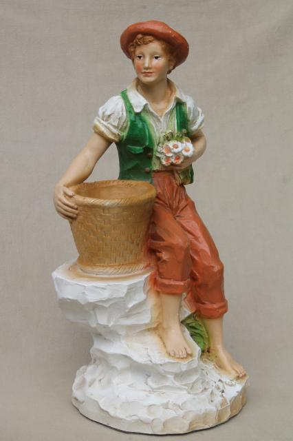 70s Vintage Universal Statuary Statue Figures Rustic