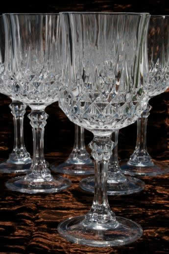 Cristal D Arques Longchamp French Crystal Water Glasses