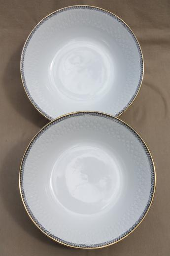 Black And Pattern White Dishes China