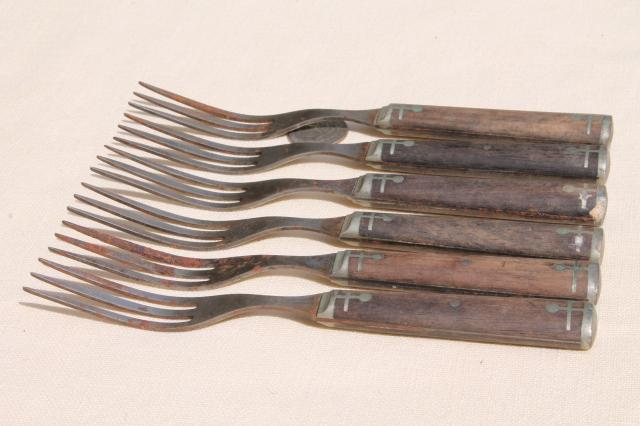 Antique Wood Handled Steel Forks Amp Knives Civil War