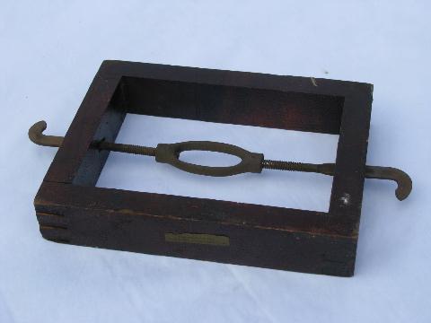 antique vintage wood bed rail brackets