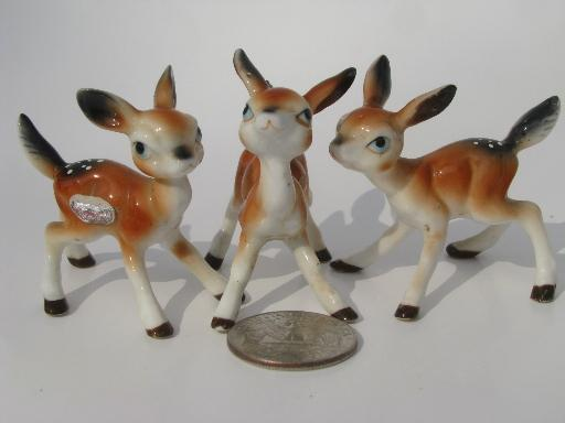 Lot Tiny Bone China Forest Animals Vintage Miniature