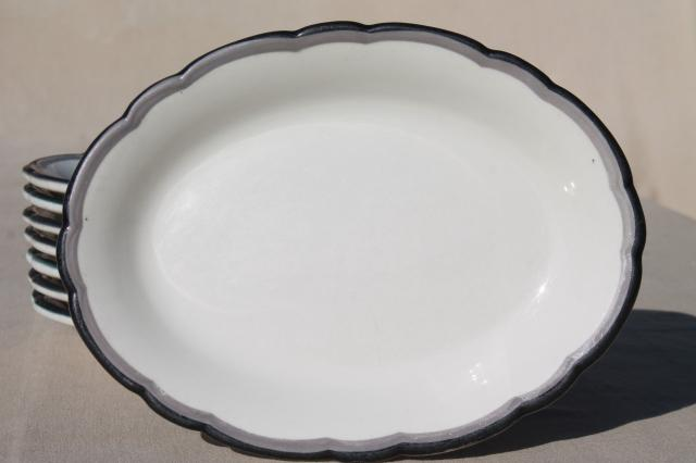 Black And White Pattern Dishes China