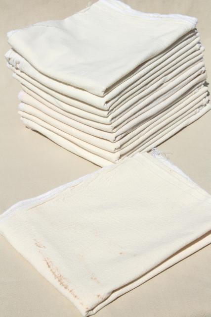Plain Unbleached Cotton Flour Sack Kitchen Dish Towels