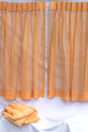 retro orange curtains 60s vintage