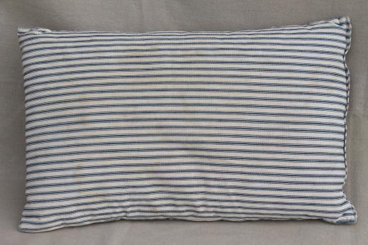 primitive old blue striped ticking