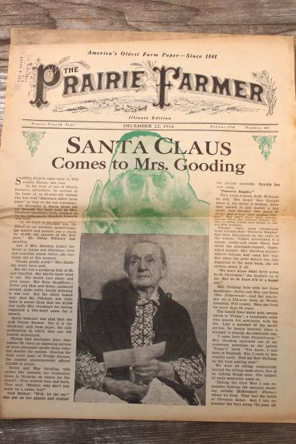 Vintage Prairie Farmer Newspapers 1930s Depression Era