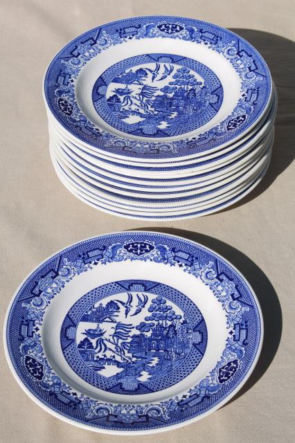 Vintage Royal China Willow Ware Blue Amp White Dinner Plates