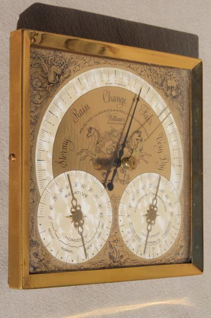 Vintage Barometer Weather Station Longines Wittnauer