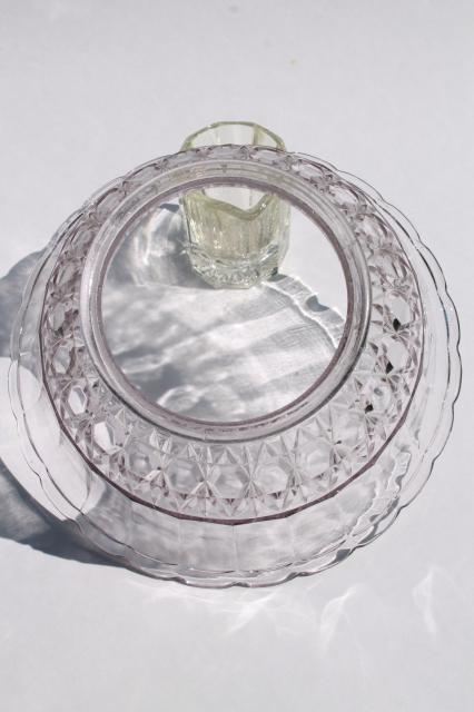 Vintage Clear Glass Lampshade Replacement Shade For Antique Lamp Or Hanging Light