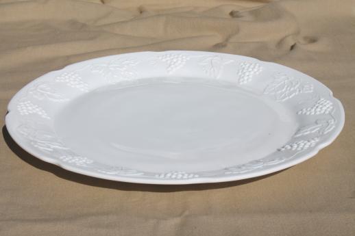 Vintage Milk Glass Cake Plate Or Platter Indiana Harvest