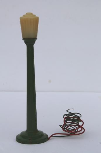 Vintage Miniature Electric Street Light Cast Metal Toy