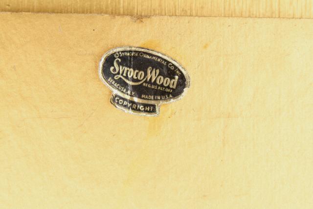 Vintage Ornate Gold Rococo Wall Mirror, Syrowood Syroco