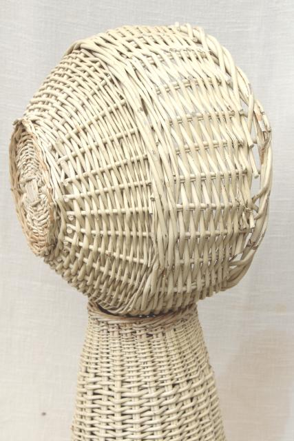Large Wicker Sewing Basket