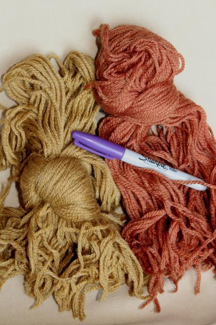 Vintage Wool Yarn Tapestry Needlepoint Or Crewel