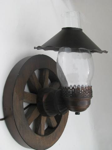 western wagon wheel vintage wood wall