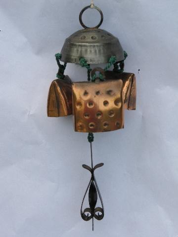 Swiss Alpine Cow Goat Bell Door Chime Vintage Wind