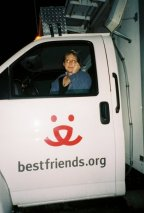During Hurricane Katrina response, up most of the night a week before we closed down the shelter, with Best Friends Animals Society; March 2006