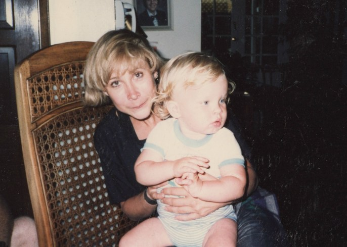 With my nephew Chris, mid-1990s