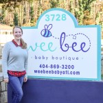 Wee Bee Baby Boutique Outside Sign