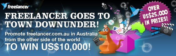 freelancer social media competition town downunder