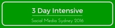 3 day social media intensive course workshop Sydney