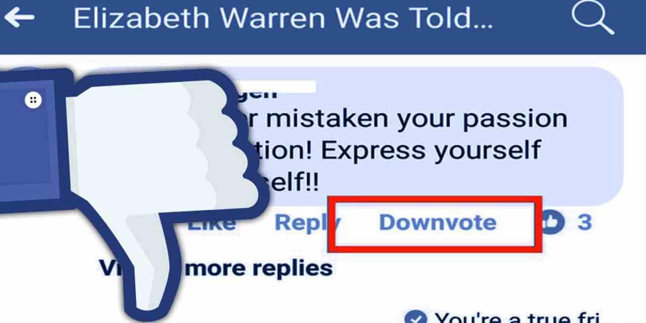 Facebook Trialling Downvote Dislike Button 2018 Algorithm