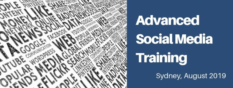 Advanced Social Media Training in Sydney August 2019