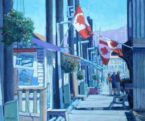 F is for Flags by Artist Robert H McMurray