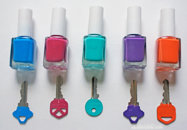 A Bubbly Life5 Minute DIY- Color Code Your Keys - A Bubbly Life
