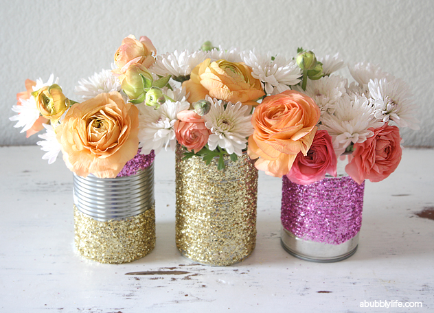 A Bubbly Lifeupcycled Glitter Vase Diy A Bubbly Life