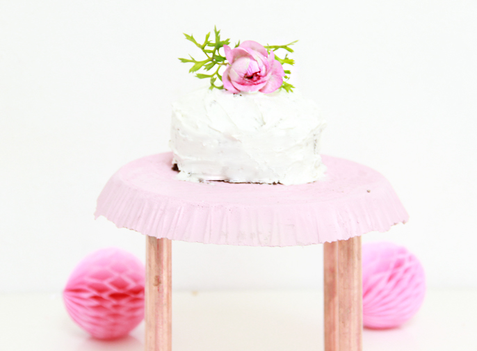 A Bubbly LifeDIY Concrete Copper Pipe Cake Stand A Bubbly Life