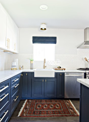 Having A Moment  Navy and White Kitchen Cabinets   Lauren Nelson Having A Moment  Navy and White Kitchen Cabinets