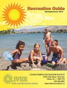 Front page of the spring summer 2014 program guide