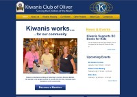 a screenshot of the Oliver Kiwanis website