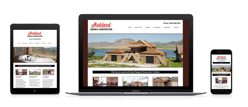 Ruhland Design & Construction Website
