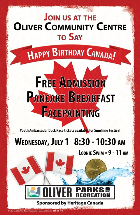 A Canada day poster