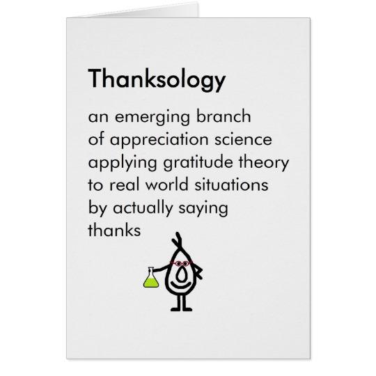 Thank You and Appreciation Menu