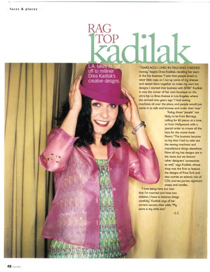 Drea Kadilak for Channels Magazine Miami, 1999