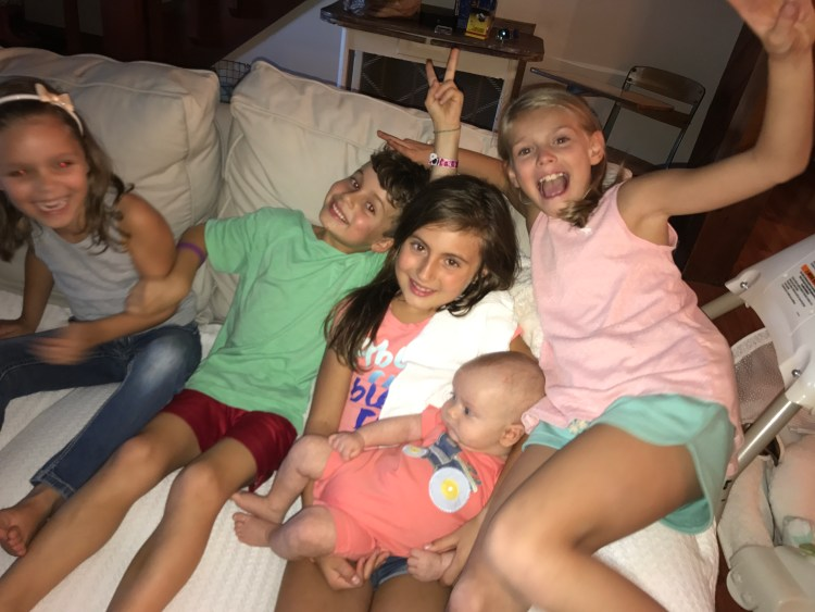 Kids with their cousins