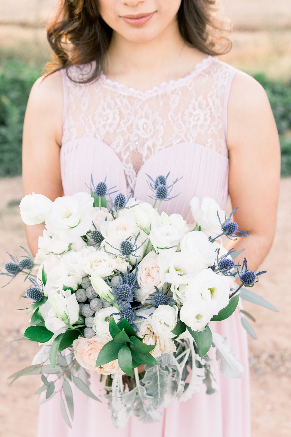 Phoenix Garden Wedding Photographer, Blush Garden Wedding, Blue Winter Phoenix Wedding, Arizona Wedding Photographer, AZWed, Arizona Weddings, Winter Wedding Day, Whispering Tree Ranch Wedding