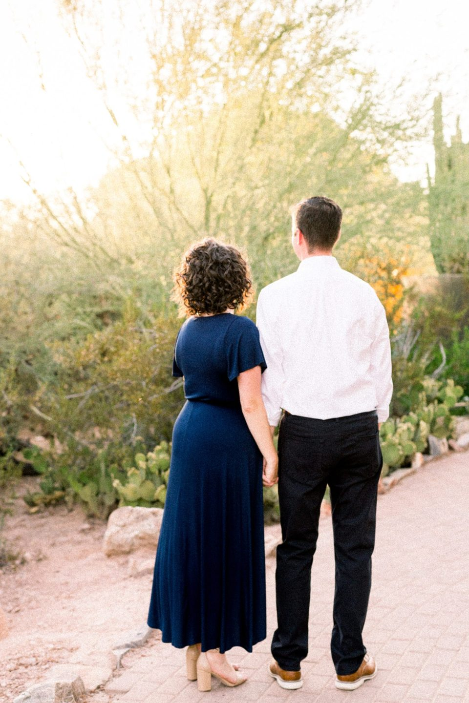 Desert Botanical Gardens Engagement Session, Phoenix Wedding Photographer, DBG Weddings, Sunset Images