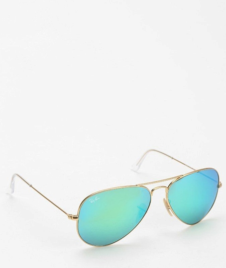 ray ban mirrored aviator sunglasses