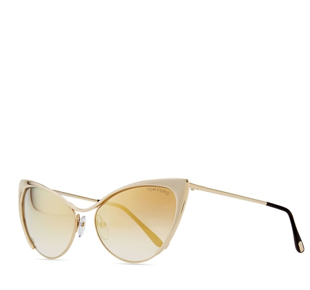 Tom Ford Nastasya Metal Cat-Eye Sunglasses