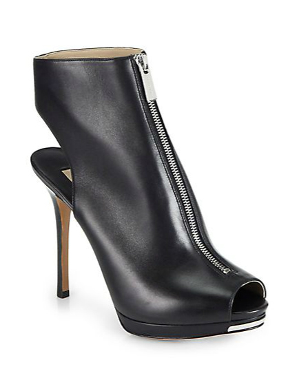Michael Kors Brynn Platform Leather Ankle Boots