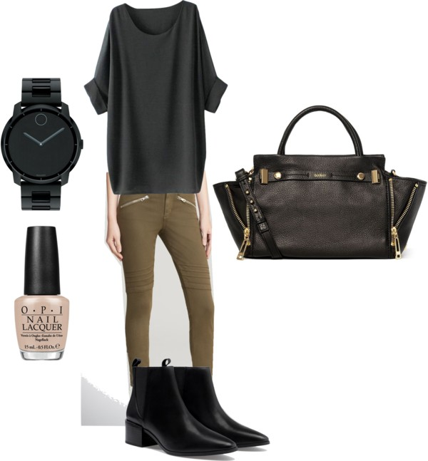 simple  and comfy fall outfit idea