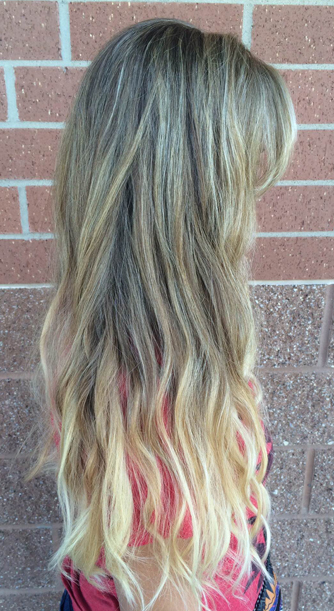 beautiful blonde highlights - sunkissed ombre
