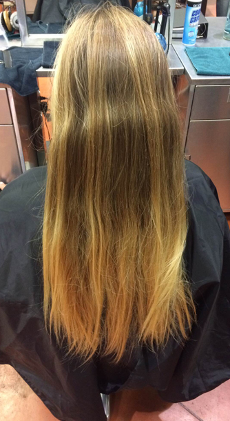 hair color makeover before and after