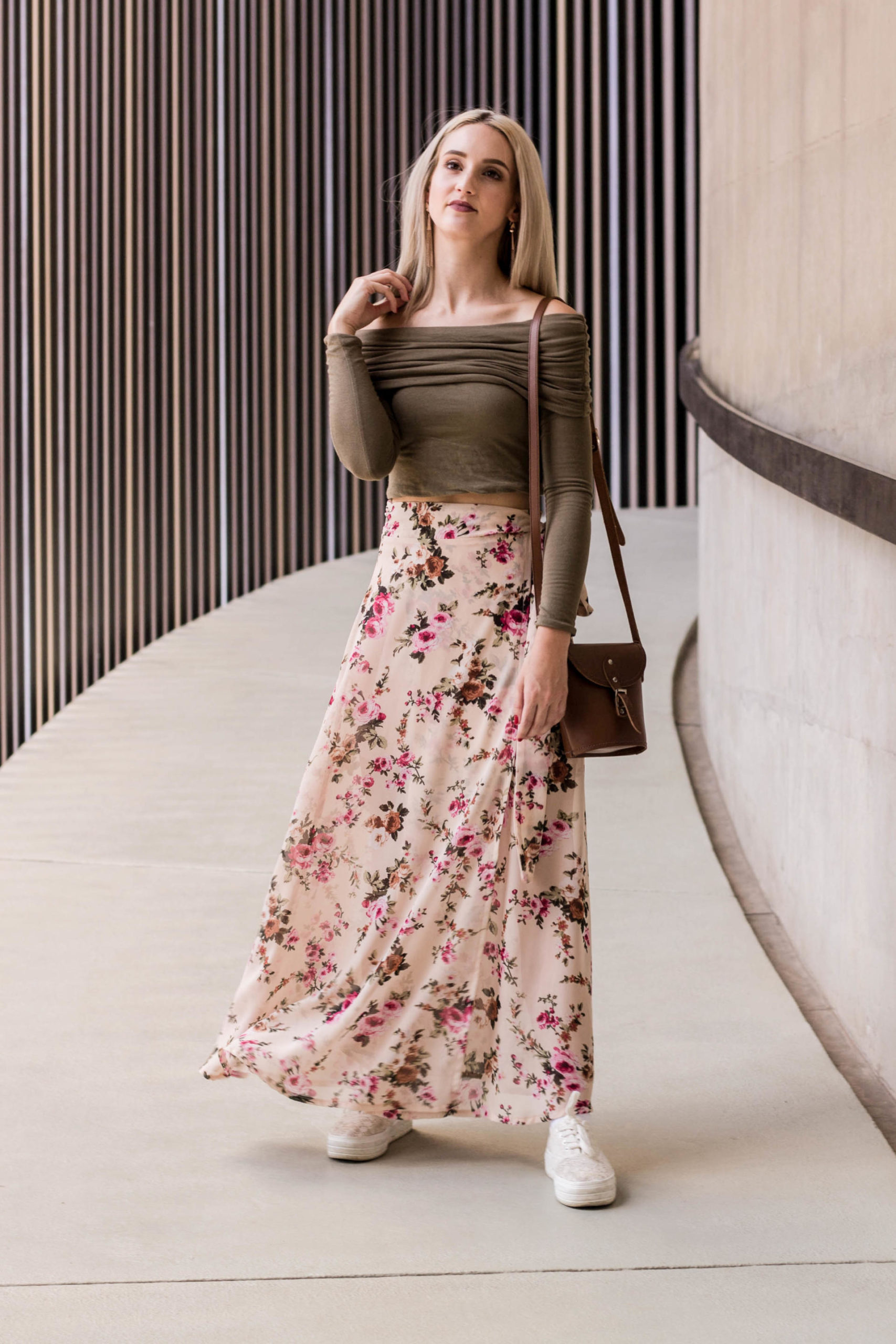 Lauren in floral skirt